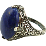 Vintage Sterling Lapis Ring by Uncas