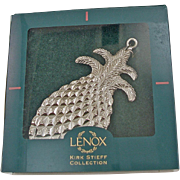 Vintage Kirk Stieff for Lenox Pewter Pineapple Ornament