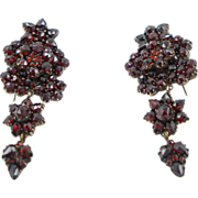 REDUCED Antique Victorian Garnet Earrings