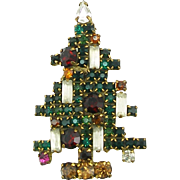 Vintage Weiss 5 Candle Christmas Tree Pin