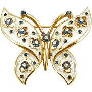 Signed Trifari Enameled Butterfly Pin