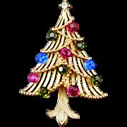 SALE Vintage Costume Jewelry Trifari Christmas tree pin