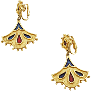 Vintage Kramer Victorian Style Clip Earrings