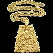 Vintage Trifari Lacy Pendant Necklace