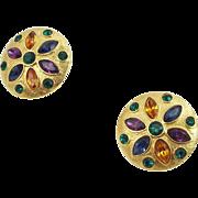 Colorful Vintage Napier Earrings