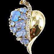 Vintage 1940's Trifari Floraleaf Pin Clip