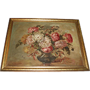 SALE Beautiful Early 20th Century Floral Oil Painting, Signed