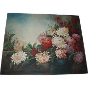 SALE Beautiful Vintage Chrysanthemums Oil Painting, Signed Margaret Armstrong