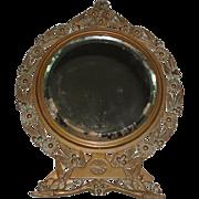 SALE Art Nouveau Bronze Table Mirror