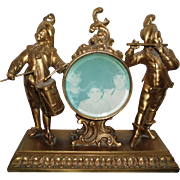 Vintage Metal Statue With Picture Frame