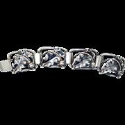 Rare Sterling Alibino Manca Bracelet with 3-D Acorns