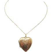 Rose Gold Heart Locket with 9 Karat Gold
