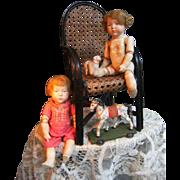 """Beautiful pair of  dolls """"Marie en Peter"""" from Kammer & Reinhardt."""