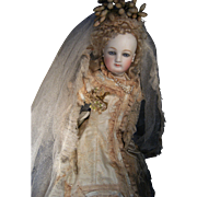 SALE PENDING Gorgeous Majestic French Brides dress, Tiara, veil, and slippers.....for your ...