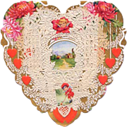 Vintage Valentine Heart Whitney Made Valentine
