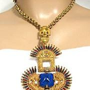 SALE Castlecliff Vrba Necklace: Kissing Indians Pendant Necklace