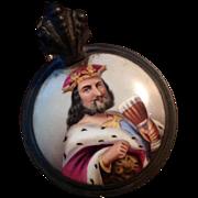 German King Gambrinus Beer Stein Ca. 1860 Biedermeier Period