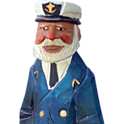 Sea Captain, Titanic, Nautical, Maritime, Wood Carving Figural