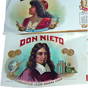 Don Nieto Cigar Box Embellishment Paper; copyright 1923