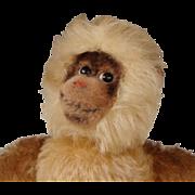"""REDUCED STEIFF Mohair """"GIBBON"""" Monkey #7320~Rare Vintage 1960's"""