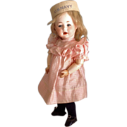 SOLD AM # 233 Character ~11.5 inches Fully Jointed~  Sleep eyes, German Bisque Toddler~