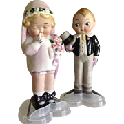 "5 "" All Bisque Bride & Groom~ Grace Drayton~Darling!! ~Wedding Cake Topper"