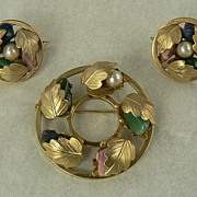 SALE Sarah Coventry Circle Pin/Earrings Set
