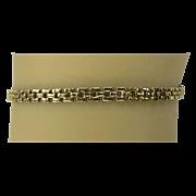 SALE Estate Gold Bracelet - Italian - 14kt gold - circa 1980