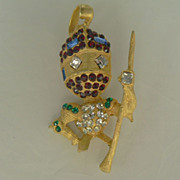 The Little Knight in Shining Armor Unsigned Designer Pin - Vintage