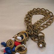 SALE Miriam Haskell Patriotic Series Necklace