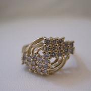 SALE Vintage 14kt Diamond Ring - Art Deco Style