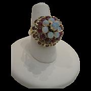 SALE 14kt Ruby Opal Ring