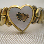 SALE Vintage Sweetheart Expandable Bracelet