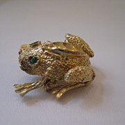 14kt Frog Critter Pin