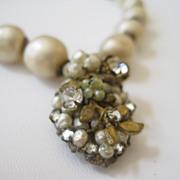 SALE DeMario Faux Baroque Pearl Necklace