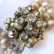 SALE Fabulous Vintage DeMario Multi-Strand Bracelet