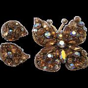 SALE Regency Butterfly Demi-Parure - Champagne