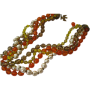 SALE Scrumptuous Miriam Haskell Multi-strand Necklace