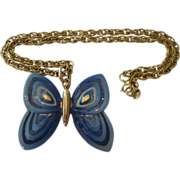 SALE Eisenberg Butterfly Necklace