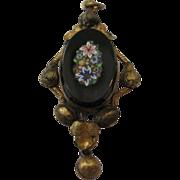 SALE Vintage Micromosaic Pendant - circa 1900