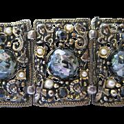 Sellro Wide Panel Bracelet Confetti Glass Bead