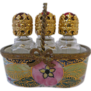 SALE Pretty Limoges Perfume Basket Box - Peint Main