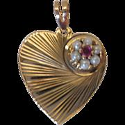 Vintage 14kt Heart Pendant/Charm