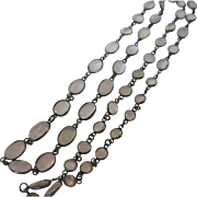 Antique Sterling Moonstone Necklace