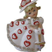 SALE Relpo Hearts Girl Planter, #A809