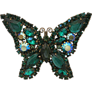 Weiss Dark Green Butterfly Brooch