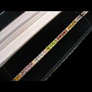 Vintage Sterling Rainbow Gemstone Line Bracelet