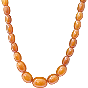 SOLD Gorgeous Egg Yolk Amber Bead Necklace