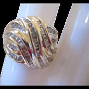 10kt Diamond Swirl Ring