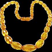 VIntage Golden Honey Amber Necklace
